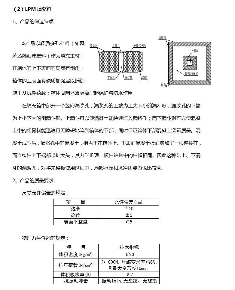 LPM填充箱产品特性